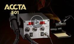Відеоогляд термоповітряної паяльної станції Accta 501