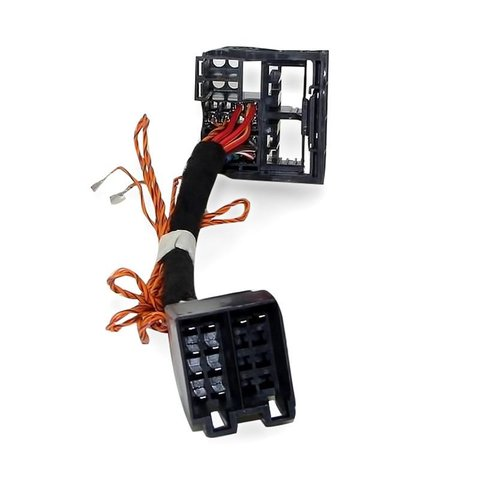 ISO QuadLock Adapter with Can Bus Wiring for Connecting RCD510, RCD 310, RNS 510 Head Units in Skoda Volkswagen
