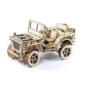 Wooden mechanical 3D Puzzle Wooden.City 4x4 Vehicle