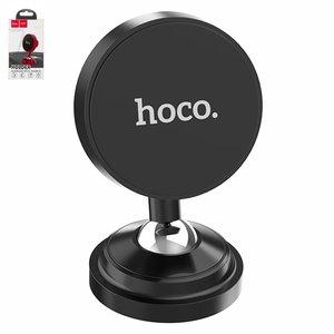Car Holder Hoco CA36, (black, magnetic, adhesive base)