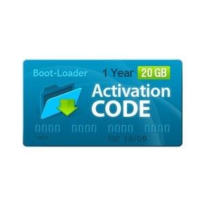 Boot-Loader v2.0 Código de activación (1 año, 20+3 GB)