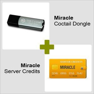 Miracle GSM Cocktail донгл и 10 серверных кредитов Miracle