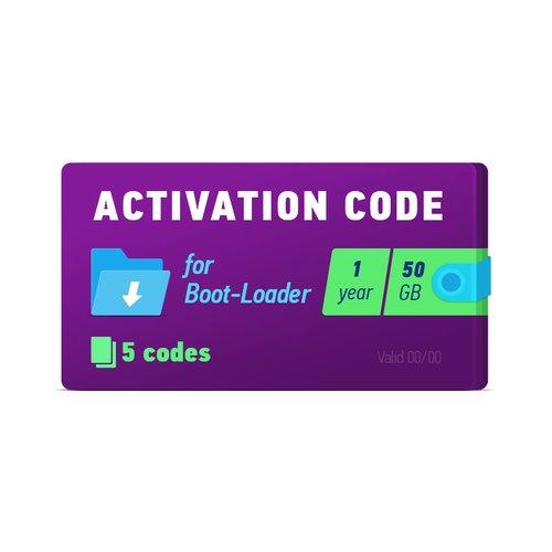 Активационный код Boot-Loader 2.0 (1 год, 5 кодов х 50 ГБ)