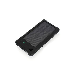 Зарядний пристрій на сонячних батареях 8000 мАг (2×USB, IP65, чорний)