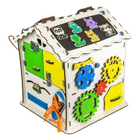 Бізіборд GoodPlay Будиночок для розвитку 30×30×40