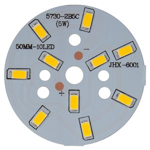 PCB with LEDs 5 W (warm white, 600 lm, 50 mm)
