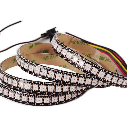 RGB LED Strip SMD5050, WS2813 with controls, black, IP65, 5 V, 144 LEDs m, 1 m